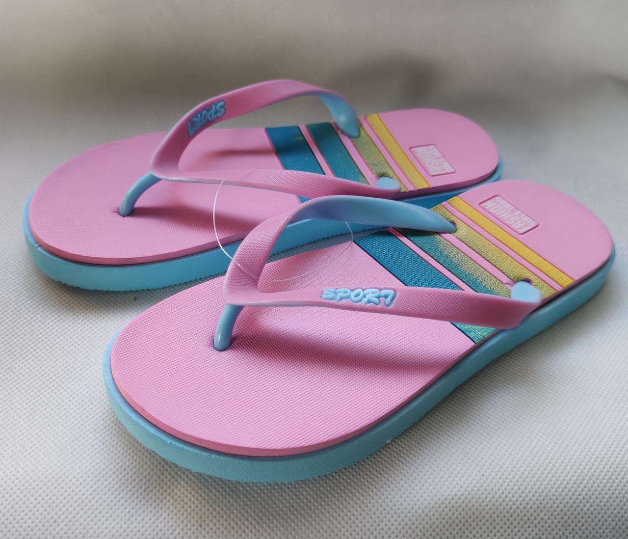 Женские сланцы шлепки вьетнамки шлепанцы пляжные розовые Plaazzo 41р 26см