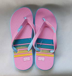 Женские сланцы шлепки вьетнамки шлепанцы пляжные розовые Plaazzo 41р 26см, фото 2