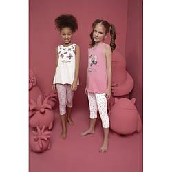 Комплект піжамний для дівчинки: майка та лосини Donella Kids (Туреччина) 6/7-10065 | 1 шт.