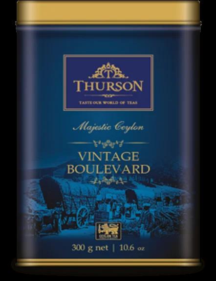 Thurson чай Pekoe Vintage Boulevard чорний розсипний цейлонський 300 г в жерстяній банці