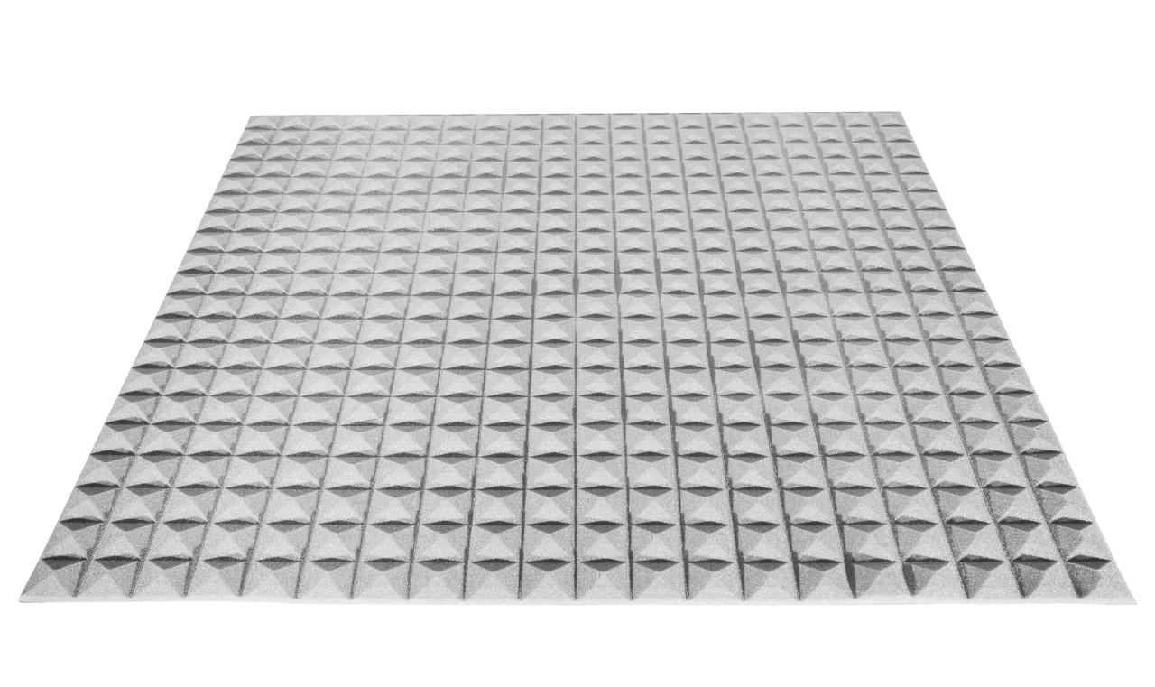 Акустический поролон Ecosound пирамида 20мм 1мх1м серый