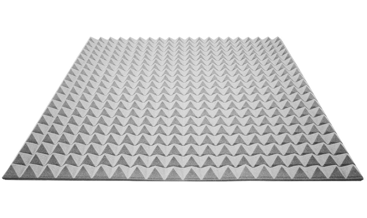 Акустический поролон Ecosound пирамида 25мм 1м х 1м серый