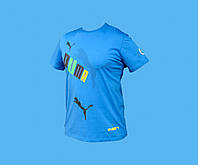 Футболка PUMA.Голубая. Размер - М  L.4125