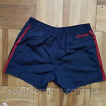 Мужские спортивные шорты SOCCER из плащевой ткани, тёмно-синие с синей отделкой., фото 3