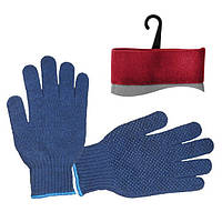 Перчатка трикотажная синтетическая 9 с точкой на ладони (упаковка 12 шт) INTERTOOL SP-0104