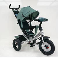 Детский велосипед трехколесный для мальчика TURВOТRIKЕ M3115HA-17L цвет хаки музыка фары сиденье 360 градусов