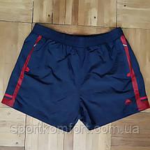 Мужские спортивные шорты SOCCER из плащевой ткани, тёмно-синие с синей отделкой., фото 2