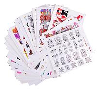 Переводные наклейки на ногти стикеры слайдер микс, 50 листов