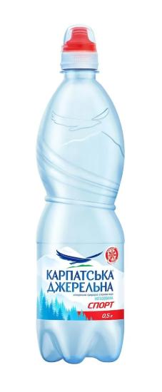 Мін вода Карпатська Джерельна СПОРТ-кеп  0,5л н/г