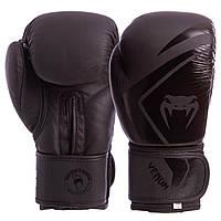 Перчатки боксерские кожаные на липучке VNM CONTENDER 2.0 VL-8202 14 унции, Черный