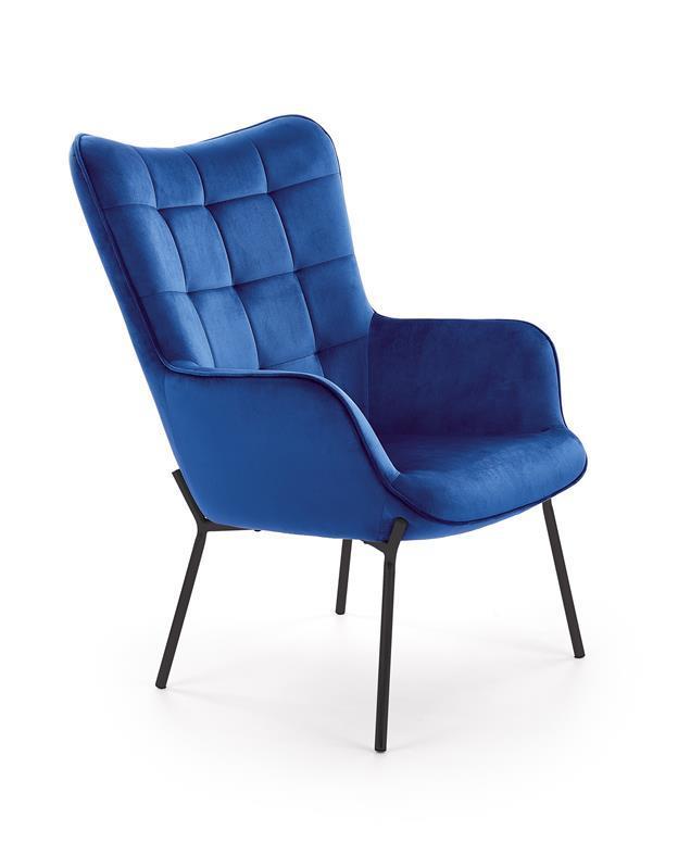 Кресло CASTEL синий / черный