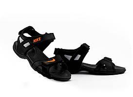 Мужские сандали кожаные летние черные Best Vak Л2-01
