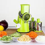 Овочерізка ручна мультислайсер + 3 насадки для овочів і фруктів Kitchen Master, фото 3