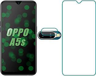 Комплект Стекло на Экран OPPO A5s и Камеру (Оппо А5с)