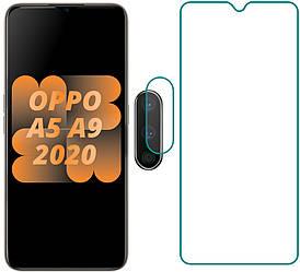Комплект Стекло на Экран OPPO A5 2020 / A9 2020 и Камеру (Оппо А5 А9 2020)