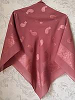Платок шелковый с ажурным рисунком (100 х 100 см.)