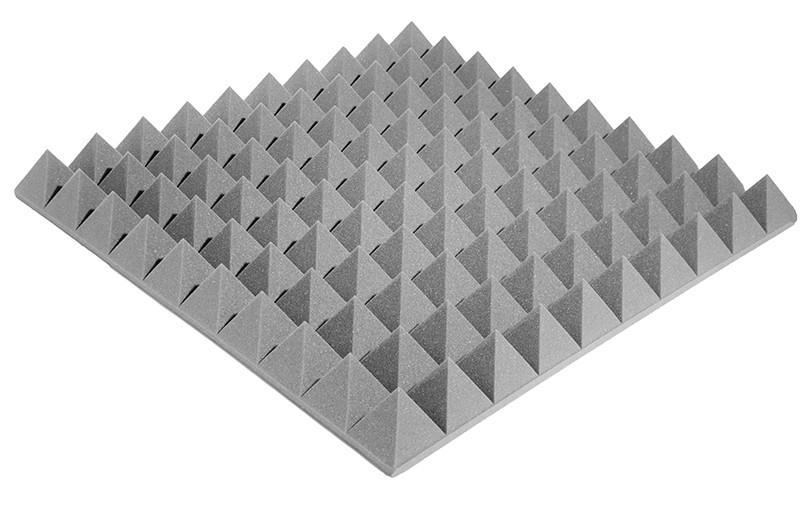 Акустичний поролон Ecosound піраміда XL 100мм 1м х 1м сірий