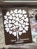 Дерево пожеланий (Размер рамки 40х50см, 40-45 сердечек), фото 1