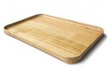 Тарілка для сервірування, дошка для подачі страв дерев'яна Energy Wood 35х25х2см