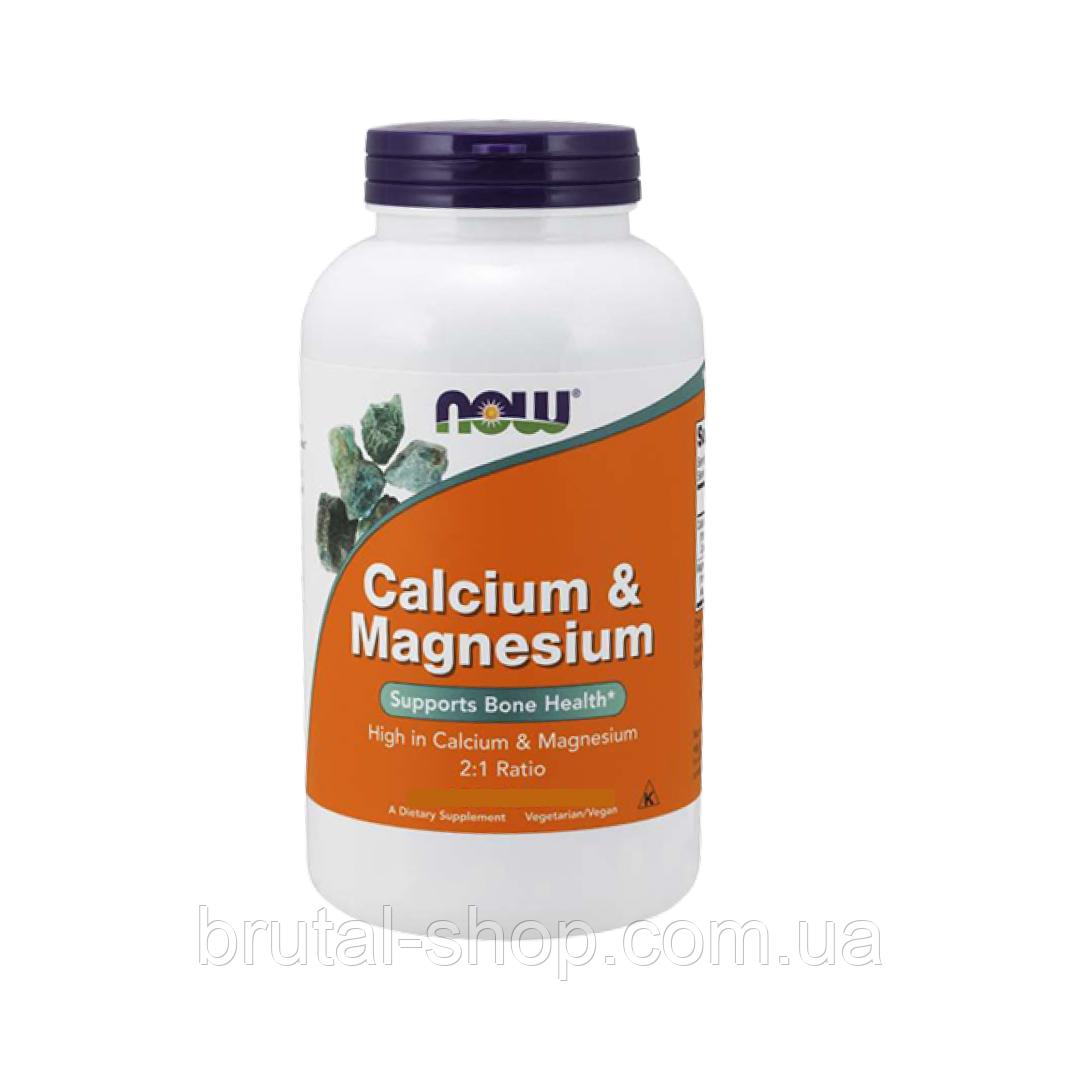 Кальций и магний,   NOW Foods Calcium & Magnesium  (100 tab)