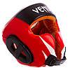 Шлем боксерский в мексиканском стиле кожаный VNM GIANT BO-6652 L, Черный-красный