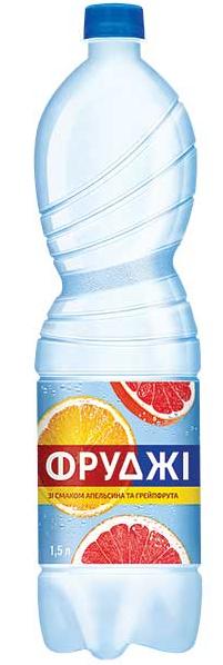 Вода Фруджі Карпатська -Д. зі смаком апельсина та грейфрута 1,5 л