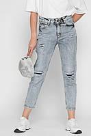 Женские джинсы  с потертостями, фото 1