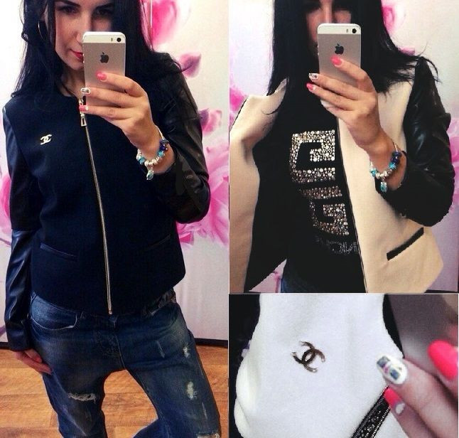 Женская короткая куртка из кашемира