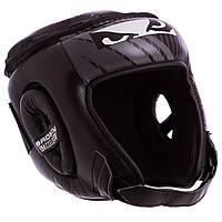 Шлем боксерский открытый с усиленной защитой макушки кожаный BDB BD09 XL, Черный