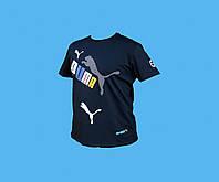 Футболка PUMA.Синяя. Размер - М  L. 4127