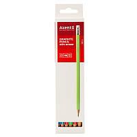 Олівець графітний Axent №9001-A з ластиком, НВ