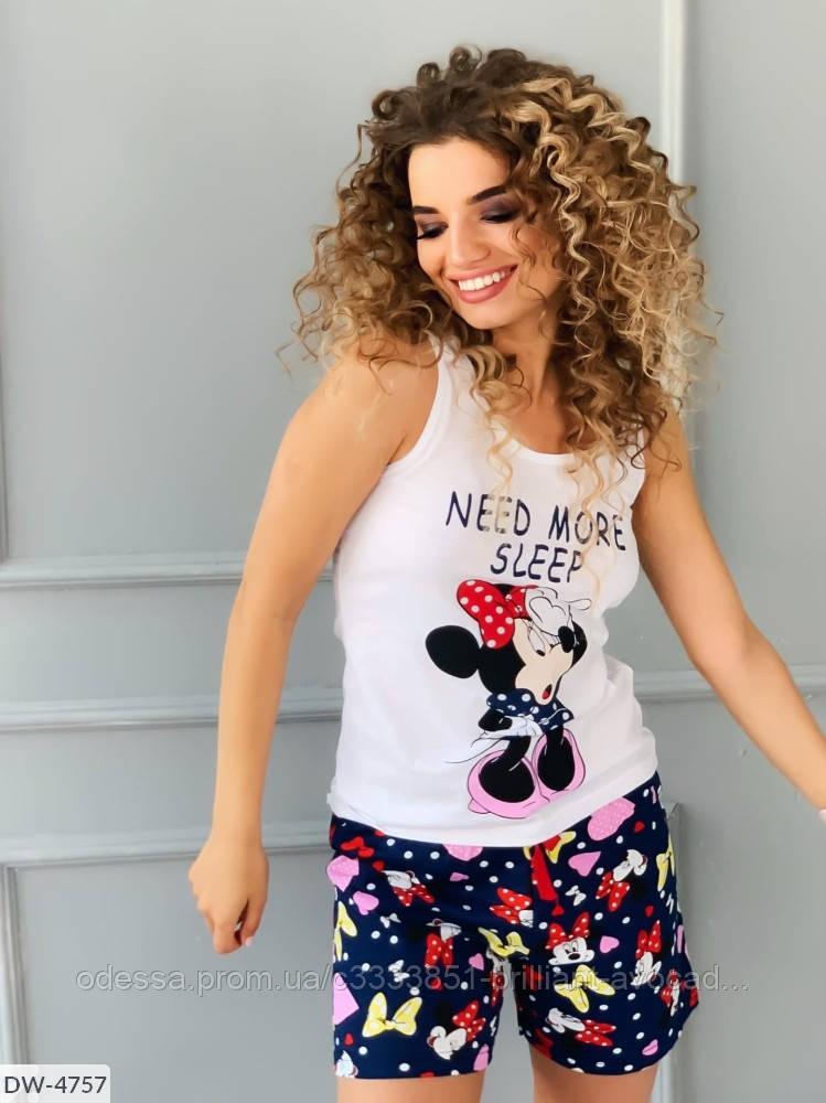Женская пижама с принтом Минни-Маусом