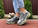 Жіночі кросівки Balenciaga (сірі) 9502, фото 4