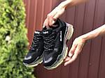 Женские кроссовки Balenciaga (черно-бежевые) 9504, фото 3