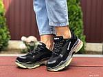 Женские кроссовки Balenciaga (черно-бежевые) 9504, фото 4