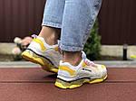 Жіночі кросівки Balenciaga (світло-сірі з жовтим) 9505, фото 2