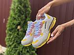 Жіночі кросівки Balenciaga (світло-сірі з жовтим) 9505, фото 3