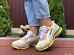 Жіночі кросівки Balenciaga (світло-сірі з жовтим) 9505, фото 4