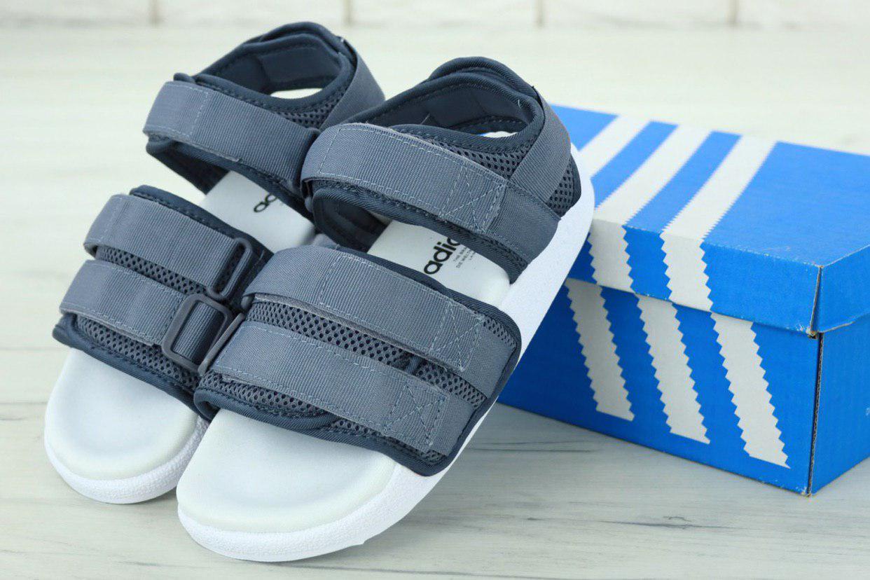 Женские спортивные сандалии Adidas (серые) 11911