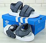 Женские спортивные сандалии Adidas (серые) 11911, фото 4