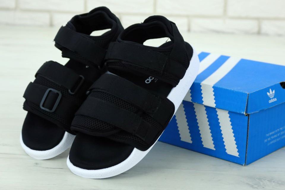 Женские спортивные сандалии Adidas (черные) 11890