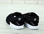 Жіночі спортивні сандалі Adidas (чорні) 11890, фото 3