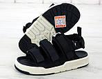 Мужские летние сандалии New Balance (черные) 11900, фото 2
