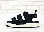 Мужские летние сандалии New Balance (черные) 11900, фото 3