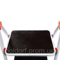 Стремянка стальная Laddermaster Intercrus S1A2. 2 ступеньки, фото 2