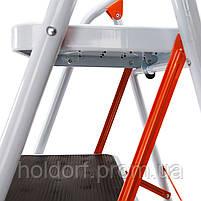 Стремянка стальная Laddermaster Intercrus S1A2. 2 ступеньки, фото 4
