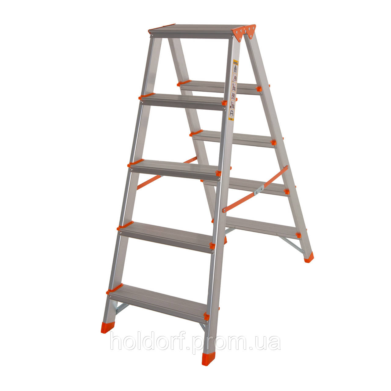 Стремянка двусторонняя алюминиевая Laddermaster Polaris A5A5. 2x5 ступенек