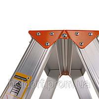 Стремянка двусторонняя алюминиевая Laddermaster Polaris A5A5. 2x5 ступенек, фото 4