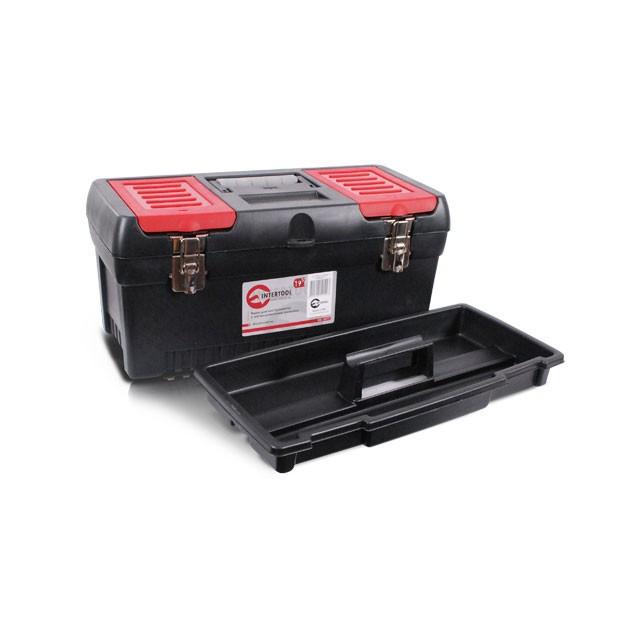 Ящик для инструментов с металлическими замками, 19 483x242x240 мм INTERTOOL BX-1019