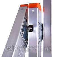 Лестница трехсекционная алюминиевая Laddermaster Sirius A3A10. 3x10 ступенек, фото 4